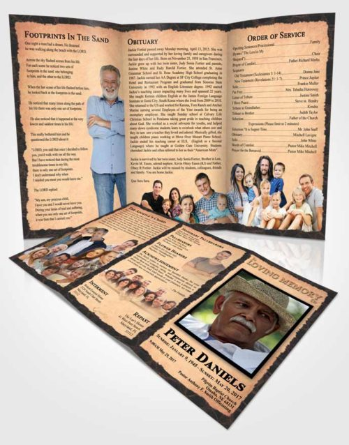 Obituary Template Trifold Brochure Majestic Outback