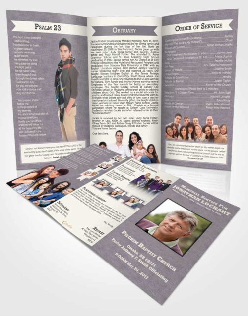 Obituary Template Trifold Brochure Mystical Intensity