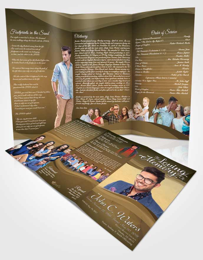 Obituary Template Trifold Brochure Pacific Fortitude