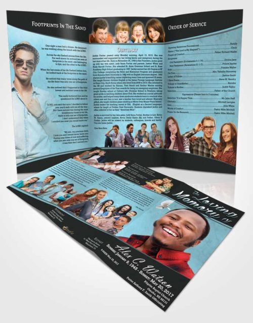 Obituary Template Trifold Brochure Paramount Vitality