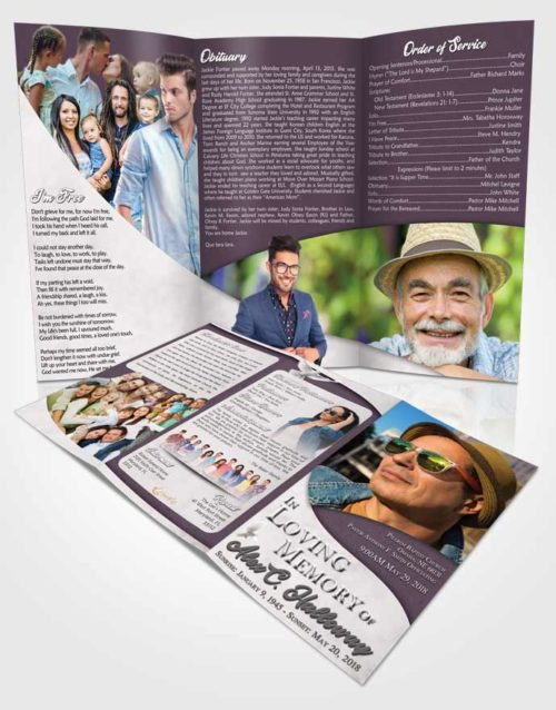 Obituary Template Trifold Brochure Remarkable Peace of Mind