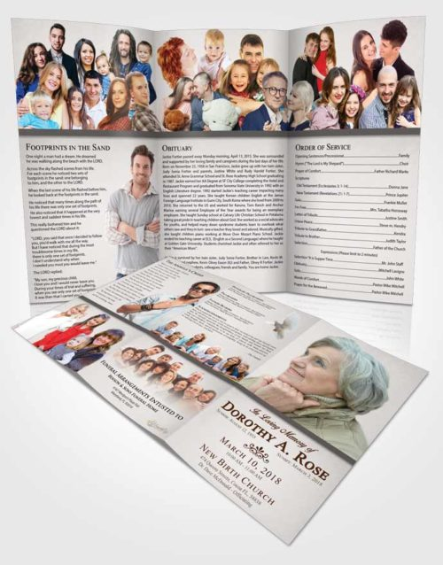 Obituary Template Trifold Brochure Shining Tolerance
