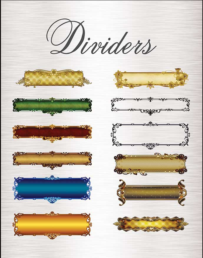 Dividers For Text Graphic Images Business Kit