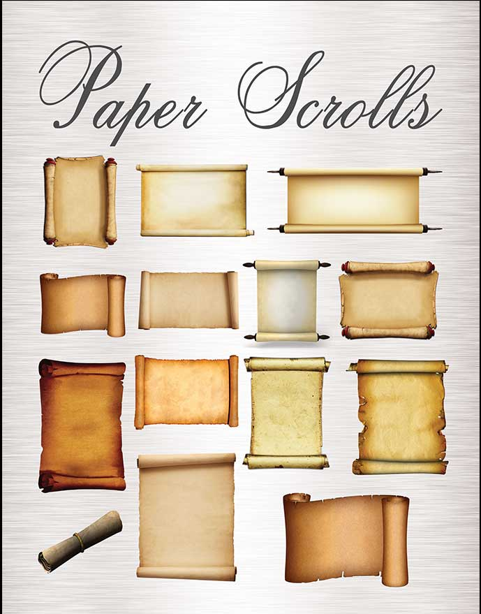 Paper Scrolls Graphic Images Business Kit