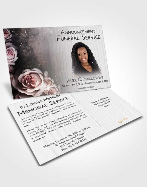 Funeral Announcement Card Template Early Flowering Garden