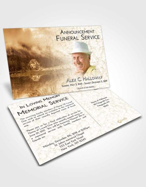 Funeral Announcement Card Template Golden Lake House
