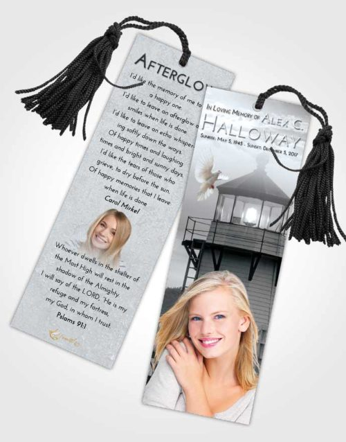 Funeral Bookmark Template Freedom Lighthouse Surprise