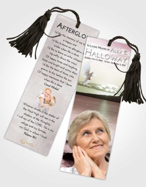Funeral Bookmark Template Morning Lake Front