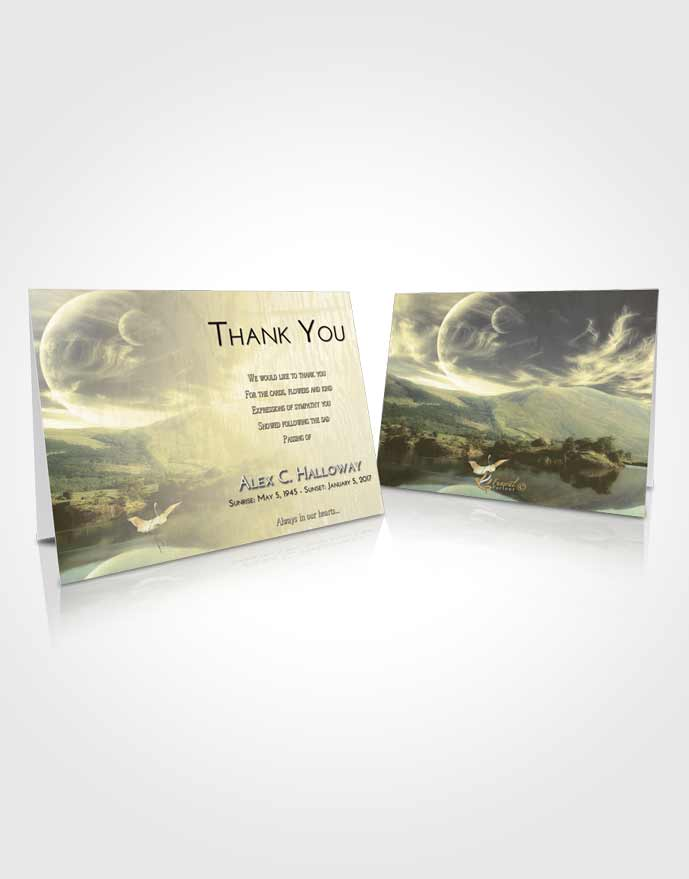 Funeral Thank You Card Template At Dusk Astonishing Moon