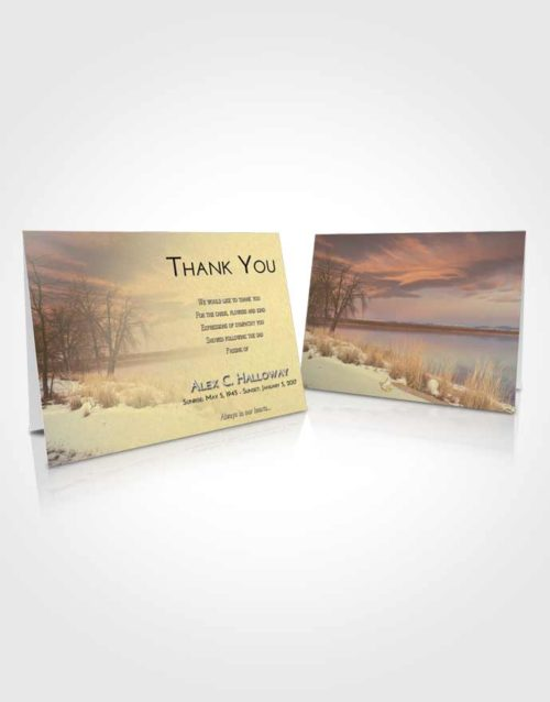 Funeral Thank You Card Template At Dusk Lovely Lake