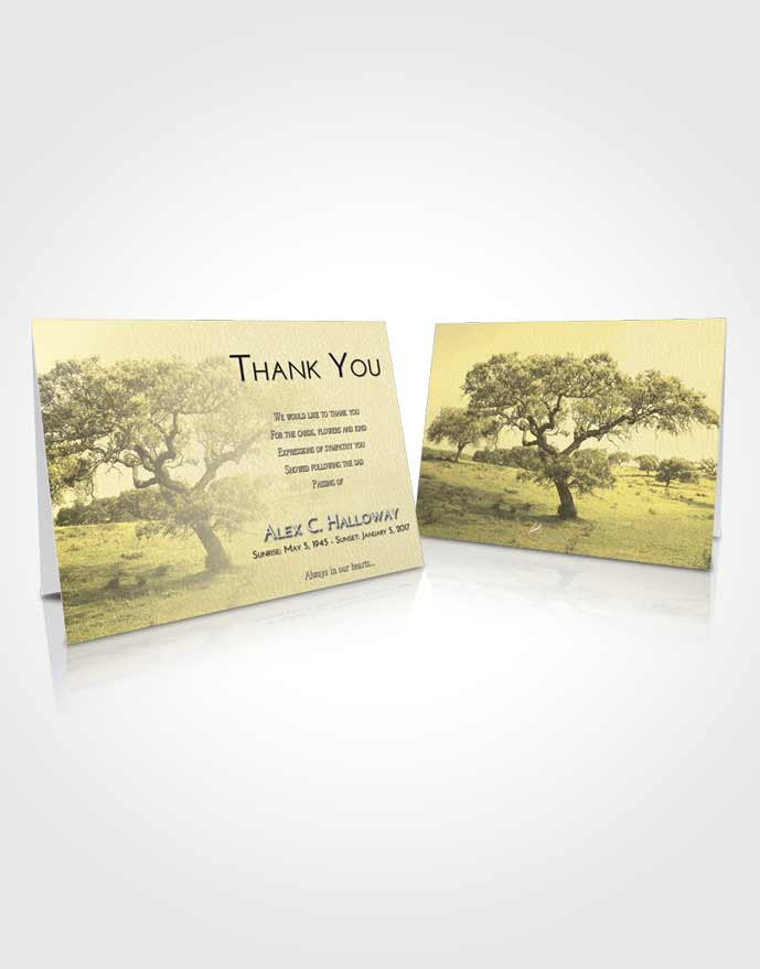 Funeral Thank You Card Template At Dusk Loving Leaves