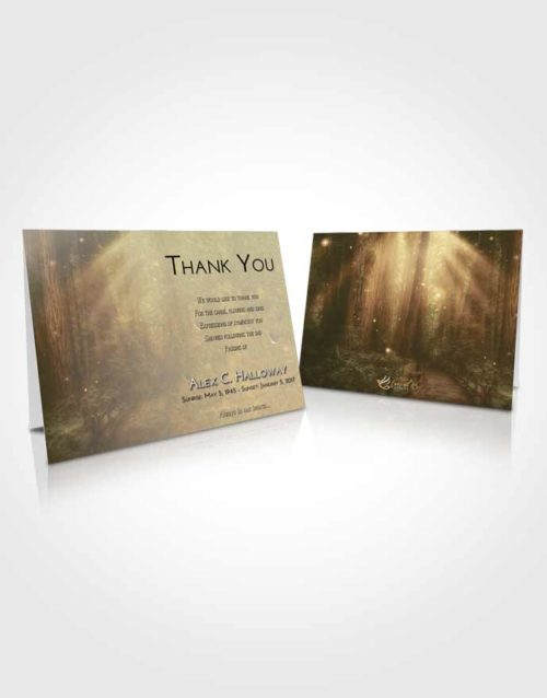 Funeral Thank You Card Template At Dusk Magical Forest