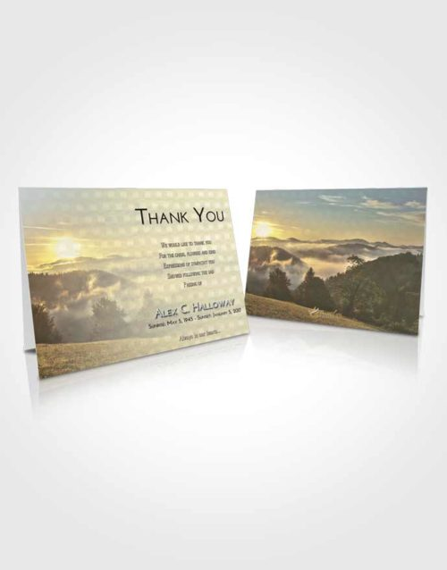 Funeral Thank You Card Template At Dusk Misty Forest