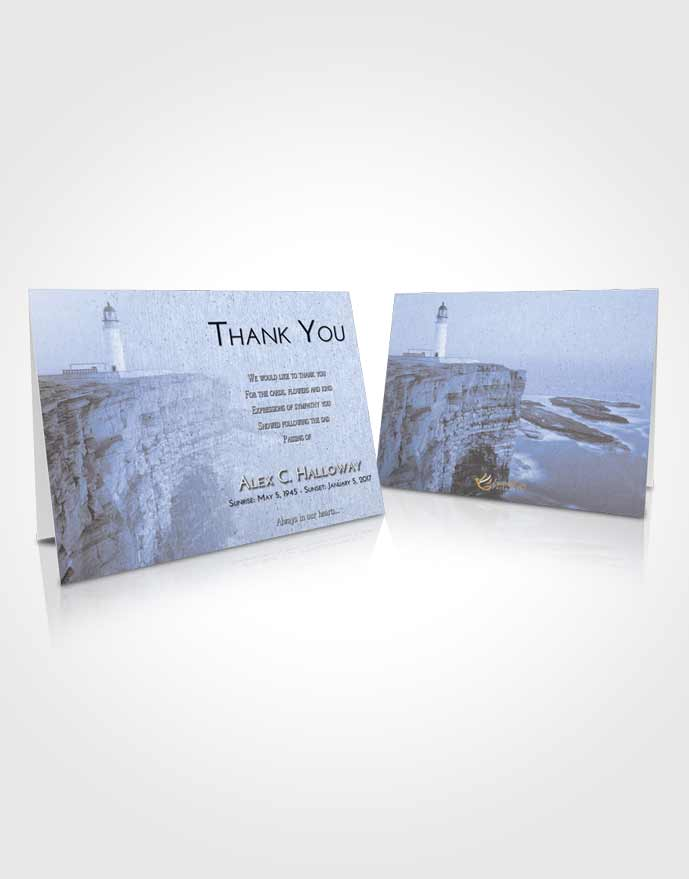 Funeral Thank You Card Template Coral Reef Lighthouse Point