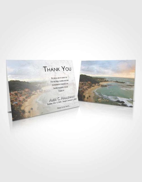 Funeral Thank You Card Template Early Beach Life