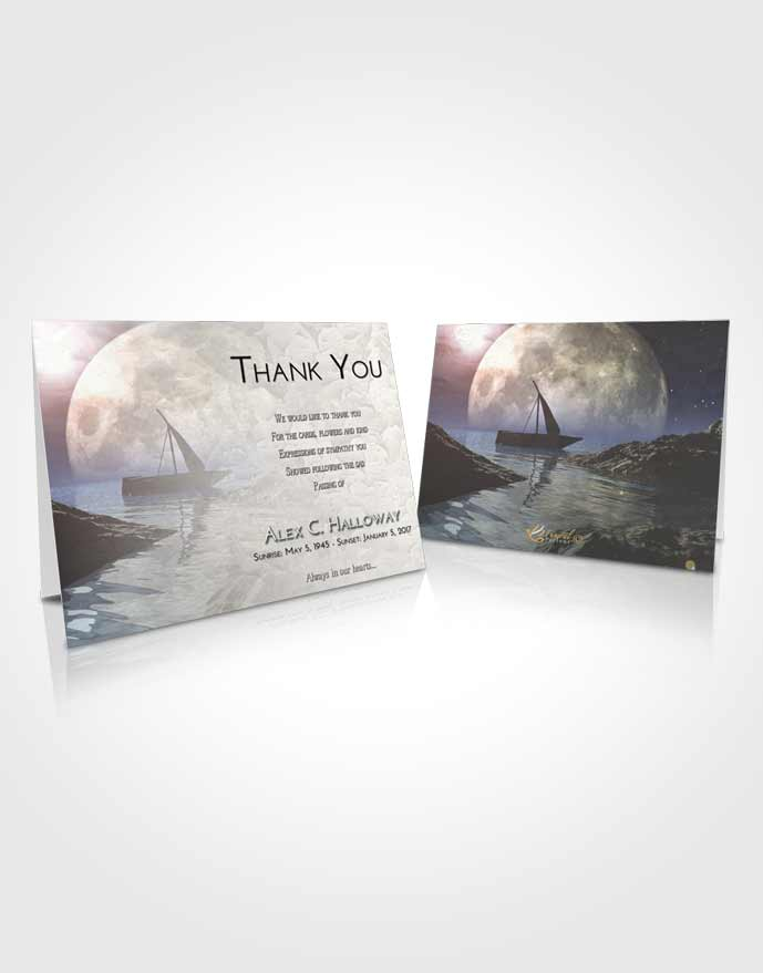 Funeral Thank You Card Template Early Calm Waters