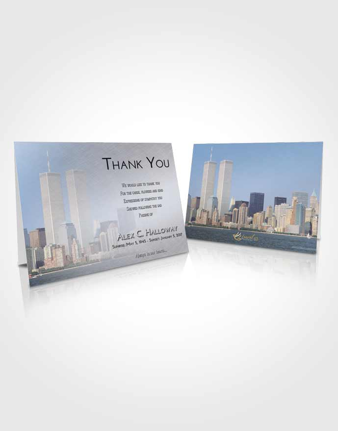 Funeral Thank You Card Template Early Cityscape