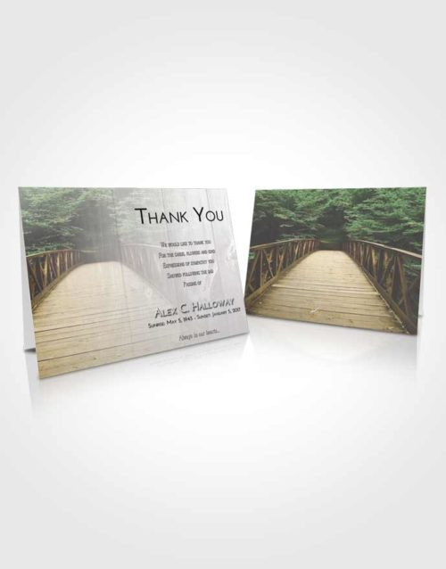 Funeral Thank You Card Template Early Nature Bridge Walk