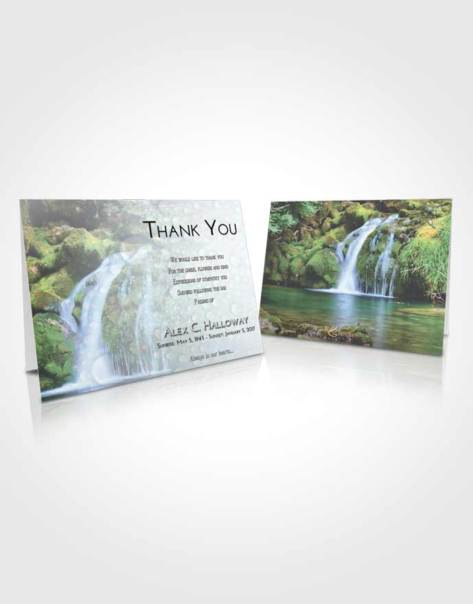 Funeral Thank You Card Template Early Waterfall Paradise