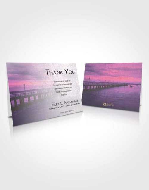 Funeral Thank You Card Template Emerald Lake Drive