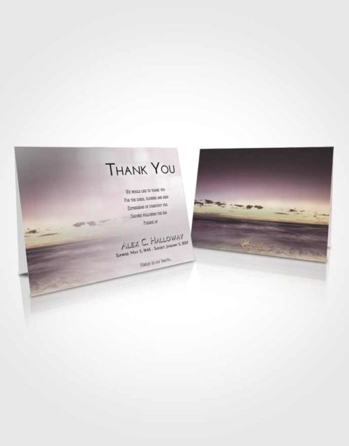 Funeral Thank You Card Template Evening Beautiful Sunset