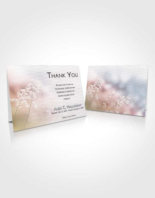 Funeral Thank You Card Template Evening Colorful Spring