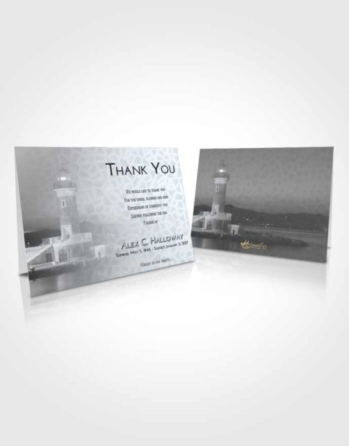 Funeral Thank You Card Template Freedom Lighthouse Majesty