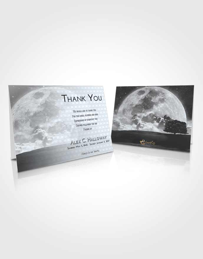 Funeral Thank You Card Template Freedom Moon Gaze