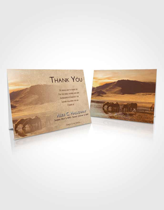 Funeral Thank You Card Template Golden Watering Hole