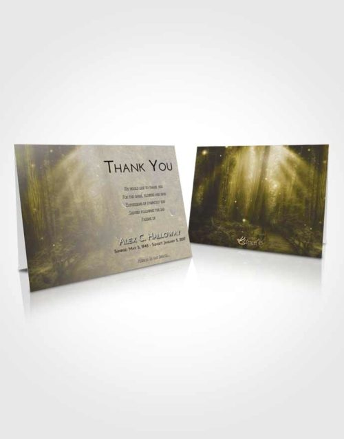 Funeral Thank You Card Template Harmony Magical Forest