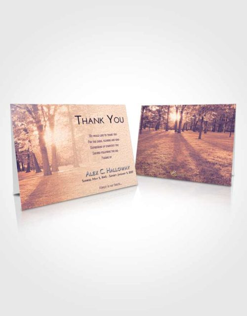 Funeral Thank You Card Template Lavender Sunset National Park
