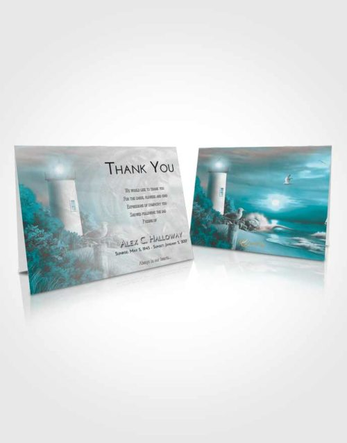 Funeral Thank You Card Template Loving Embrace Lighthouse Mystery