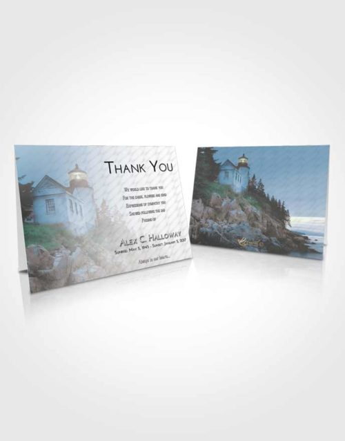 Funeral Thank You Card Template Loving Embrace Lighthouse on the Rocks