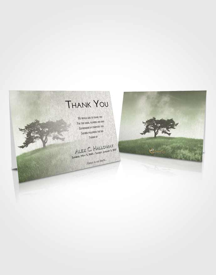 Funeral Thank You Card Template Loving Gentle Pasture