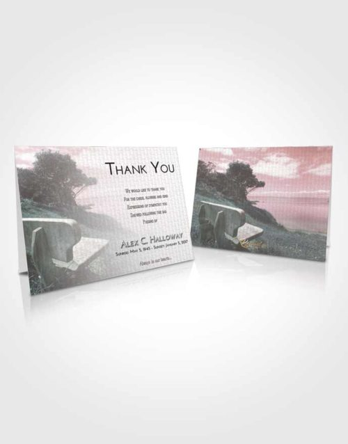 Funeral Thank You Card Template Morning Coastal Gaze