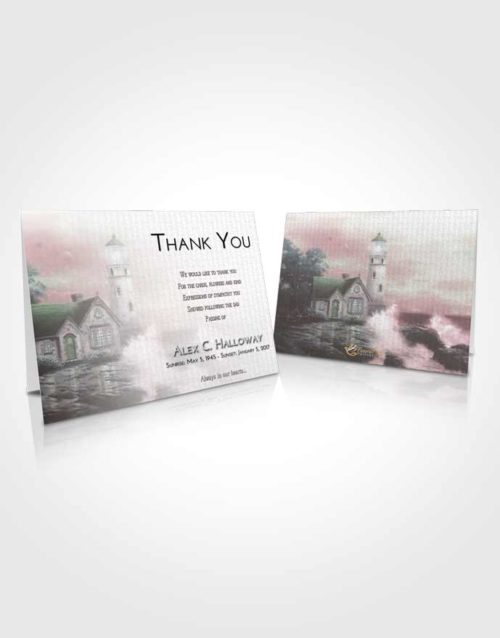 Funeral Thank You Card Template Morning Lighthouse Lookout