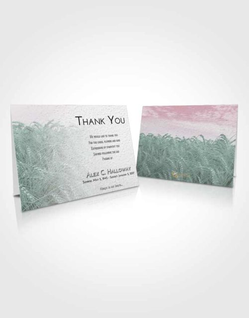 Funeral Thank You Card Template Morning Summer Wheat