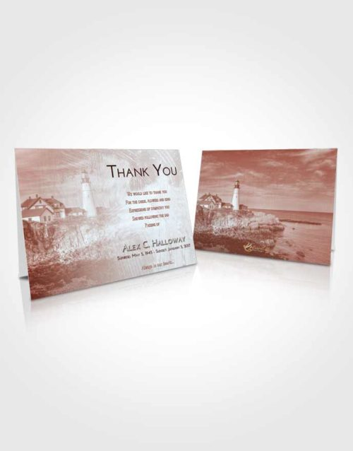 Funeral Thank You Card Template Ruby Love Lighthouse Journey