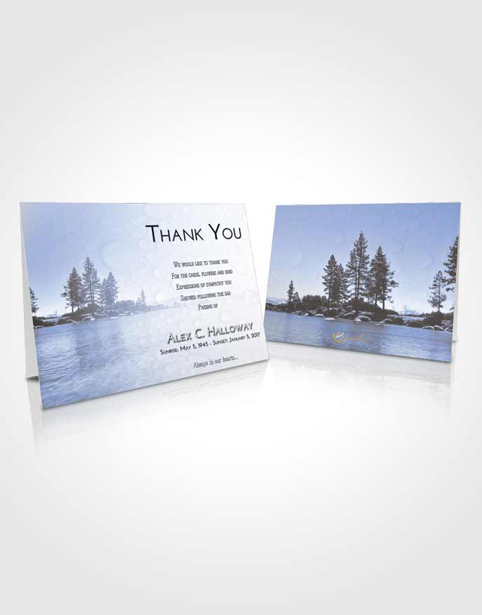 Funeral Thank You Card Template Splendid Coral Waters