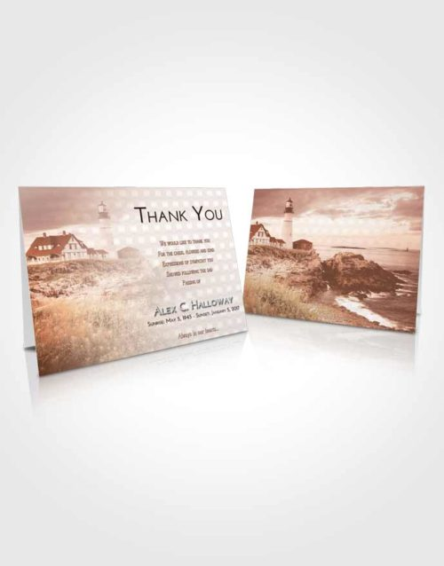 Funeral Thank You Card Template Strawberry Love Lighthouse Secret