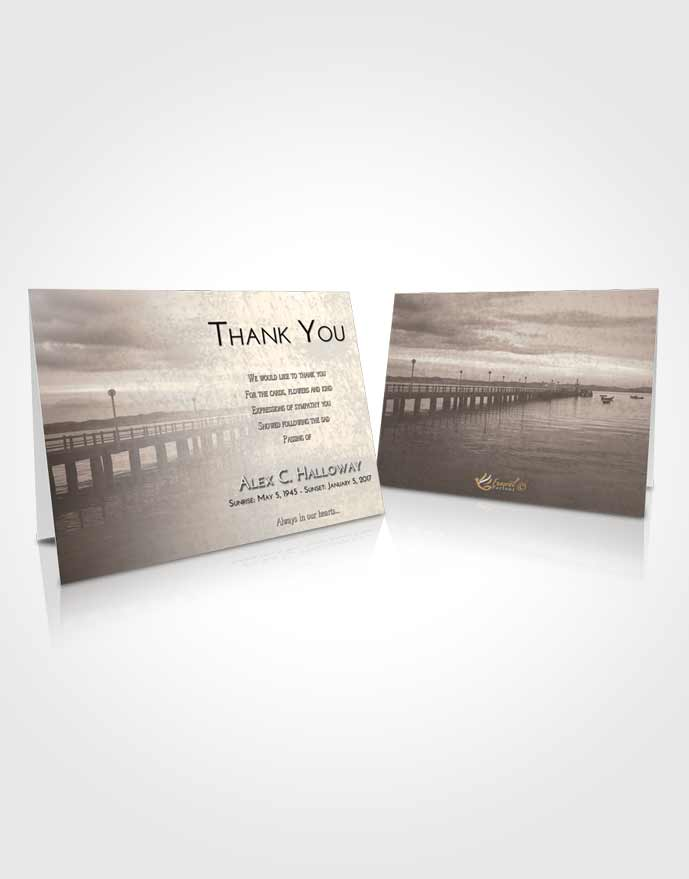 Funeral Thank You Card Template Tranquil Lake Drive