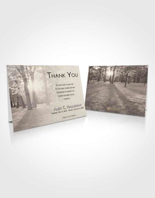 Funeral Thank You Card Template Tranquil National Park