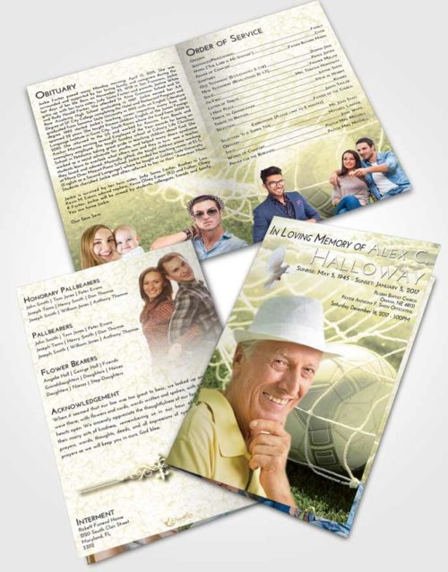 Bifold Order Of Service Obituary Template Brochure At Dusk Soccer Pride