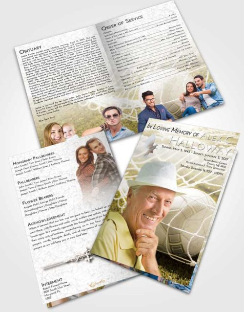 Bifold Order Of Service Obituary Template Brochure Harmony Soccer Pride