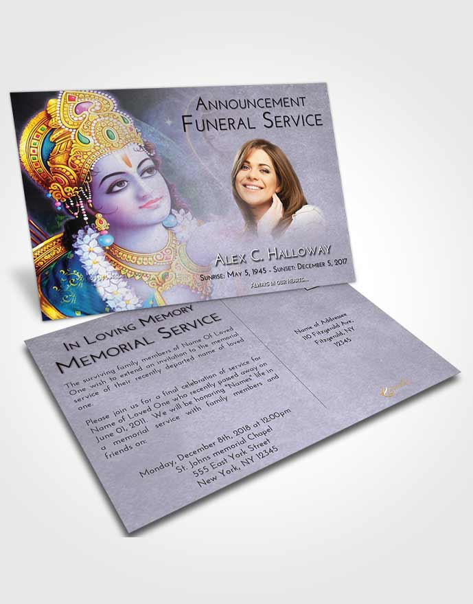 Funeral Announcement Card Template Early Hindu Majesty