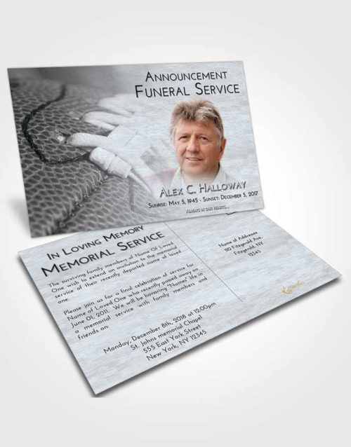 Funeral Announcement Card Template Freedom Football Life