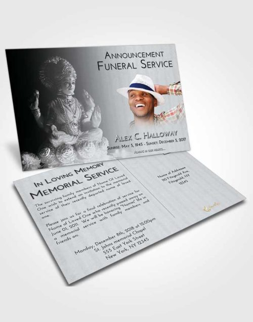 Funeral Announcement Card Template Freedom Lakshmi Surprise