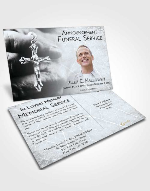 Funeral Announcement Card Template Freedom Rosary Life