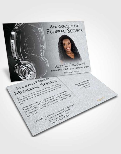 Funeral Announcement Card Template Freedom Vivace