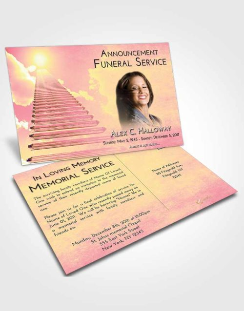 Funeral Announcement Card Template Loving Mix Steps to Heaven